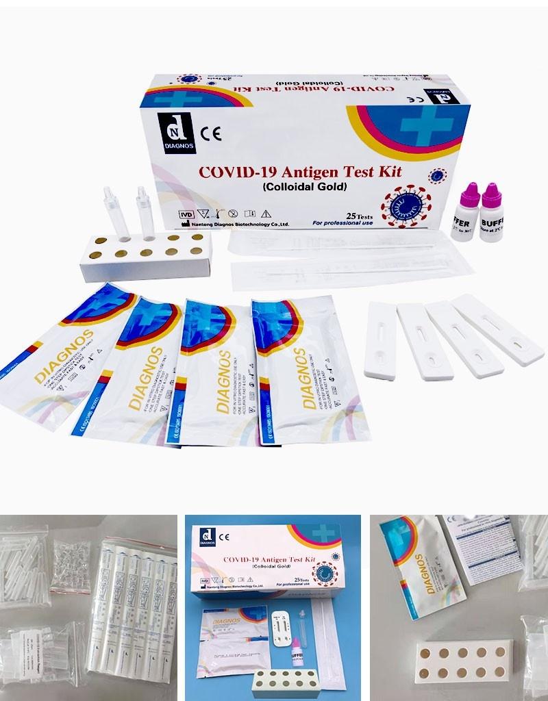 Antigenní test tyčinkový, COVID-19 Antigen Test Kit (Colloidal Gold)