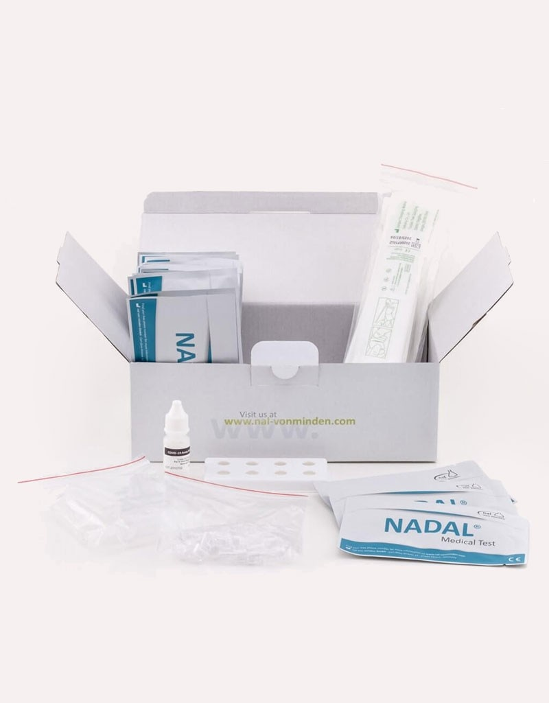 Antigenní test tyčinkový, NADAL® COVID-19 Ag Test, vyrobeno v Německu