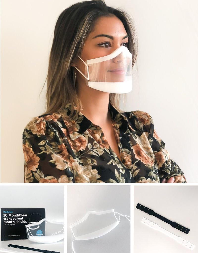 Transparentní ústní maska (10 ks) + chránič uší