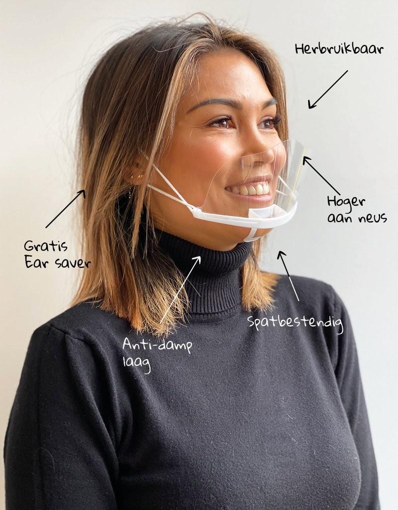 Transparentní ústní štít (10 ks)  + chránič uší